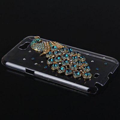 ФОТО Peacock Diamonds Style Plastic Case for Samsung Galaxy Note 2 N7100