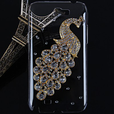 Peacock Diamonds Plastic Case for Samsung Galaxy Note 2 N7100