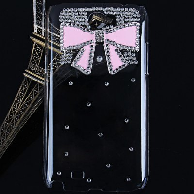 Bowknot Diamonds Plastic Case for Samsung Galaxy Note 2 N7100