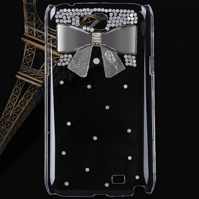 ФОТО Bowknot Diamonds Style Plastic Case for Samsung Galaxy Note 2 N7100