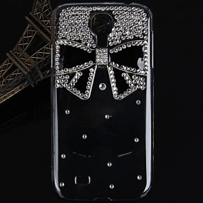 Bowknot Diamonds Plastic Case for Samsung Galaxy S4 i9500 / i9505