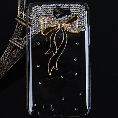 Ribbon Diamonds Plastic Case for Samsung Galaxy Note 2 N7100