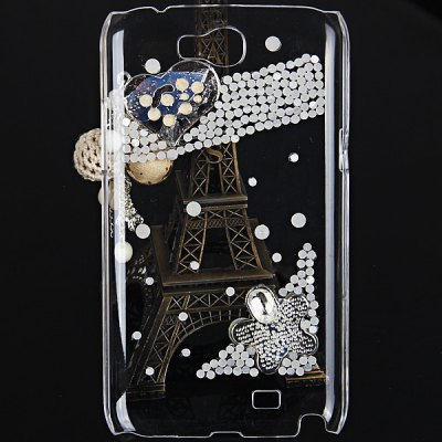 ФОТО Heart Diamonds Style Plastic Back Cover Case for Samsung Galaxy Note 2 N7100