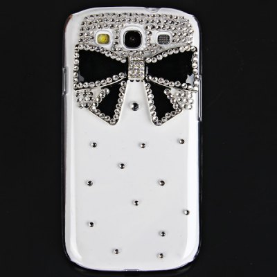 Bowknot Diamonds Plastic Case for Samsung Galaxy S3 i9300