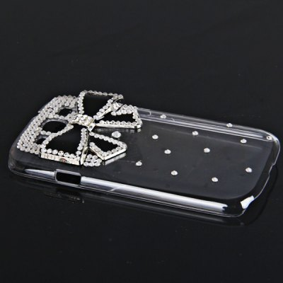 Гаджет   Bowknot Diamonds Style Plastic Case for Samsung Galaxy S3 i9300 Samsung Cases/Covers