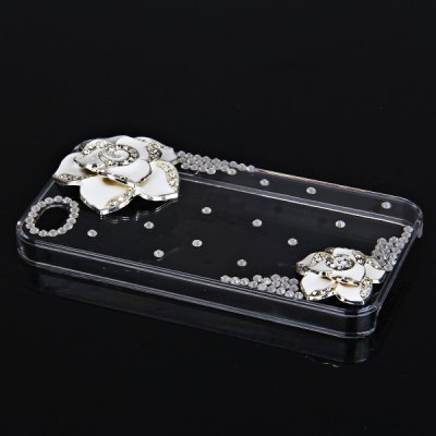 Гаджет   Cool 3D Design Rhinestones Clear Protective Plastic Hard Shell Case for iPhone 4 / 4S  -  Hawthorn Flower iPhone Cases/Covers