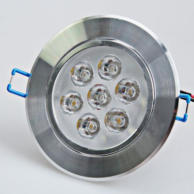 High Brightness AC180V-240V 7W LED Warm White Light Glass LED Ceiling Lamp (Silver, 30-60 Degree)