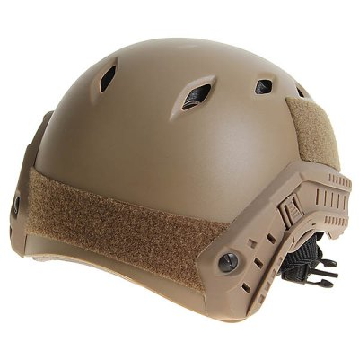 High Quality FAST Helmet with Protective Goggles and Adjustable Buckle for Outdoor Sports - Yellow Ocher