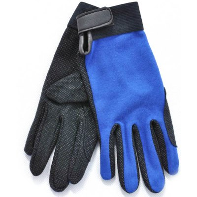 L Size Outdoor Non-slip Riding Gloves Breathable Climbing Gloves for Summer Outdoor Activity - Royal Blue