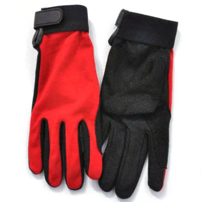 Unisex L Size Outdoor Non-slip Riding Gloves Breathable Climbing Gloves for Summer Outdoor Activity - Red
