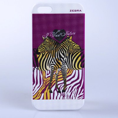 Fashion Relievo Zebra Style Detachable Protective PVC Hard Shell Case for iPhone 5 / 5S