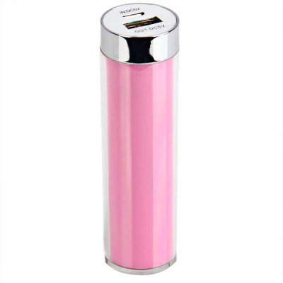 Гаджет   Mini 2600mAh Power Charger Battery Bank for Various Cell Phones and Digital Devices - Pink iPhone Power Bank