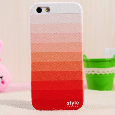 Stylish Relievo Gradient Detachable Protective PVC Hard Shell Case for iPhone 5 / 5S