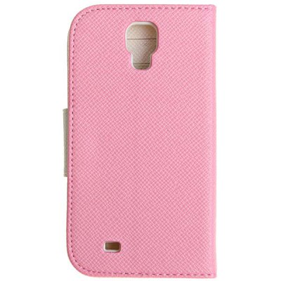 PU Leather and Plastic Wallet Case with Stand for Samsung Galaxy S4 i9500 / i9505Samsung Cases/Covers<br>PU Leather and Plastic Wallet Case with Stand for Samsung Galaxy S4 i9500 / i9505<br><br>For: Mobile phone<br>Compatible for Sumsung: Samsung Galaxy S4 I9500/I9505<br>Features: Full Body Cases<br>Material: Plastic, PU Leather<br>Color: Black, Blue, Pink, White<br>Product weight: 62 g<br>Product size (L x W x H) : 14.0 x 8.0 x 2.2 cm<br>Package Contents: 1 x Case