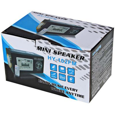 HY - 102FM Multifunction High - fidelity Plug - in Card Wooden Hull Mini Speaker