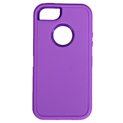 Гаджет   Multifunction Splash Proof Protective Silicone Plastic Case for iPhone 5 - Purple iPhone Cases/Covers