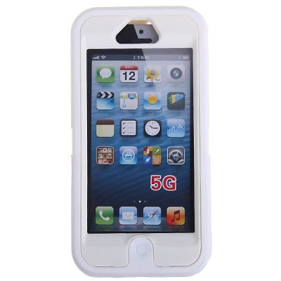 Shock and Dust Proof Plastic and Silicone Case for iPhone 5