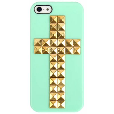 Cross Rivets Studs Plastic Case for iPhone 5