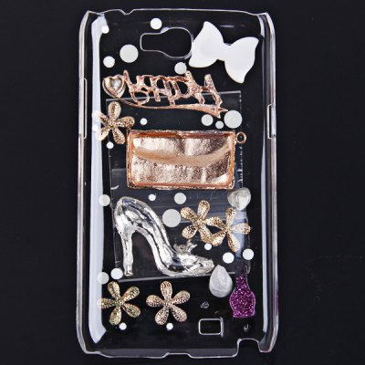 3D Diamonds Style Plastic Cover Case for Samsung Galaxy Note 2 N7100