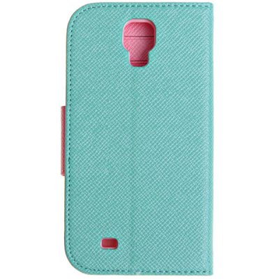 PU Leather and Plastic Wallet Case with Stand for Samsung Galaxy S4 i9500 / i9505