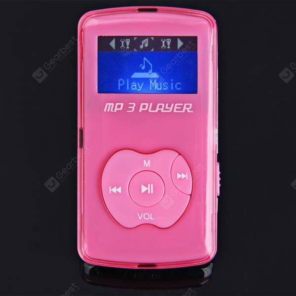 Apple Shaped Buttons Mini LCD Digital MP3 Music Player Support TF Card with Speaker EM0048404