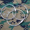 15cm Stainless Steel Cable Wire Key Ring Multi-function Keychain Outdoor Camping Accessories - Silver deal