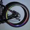cheap 24PCS/3 Sheets Brand New Bicycle Wheel Reflective Stickers Bike Wheel Safe Accessories (Red, Yellow, Blue)