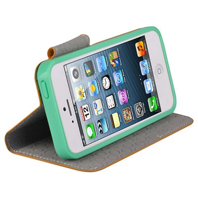 Baseus Flip Style Number Five PU Leather + TPU Case Cover with Stand for iPhone 5iPhone Cases/Covers<br>Baseus Flip Style Number Five PU Leather + TPU Case Cover with Stand for iPhone 5<br>