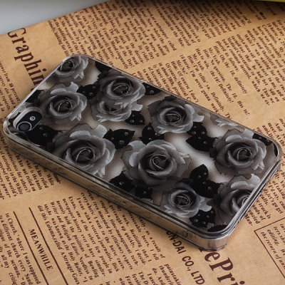 Гаджет   Beautiful Rose Pattern Dull Polish Durable Plastic Hard Case Cover for iPhone 4 / 4S