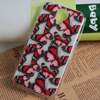 Beautiful Butterfly Pattern Dull Polish Plastic Hard Case Cover for Samsung Galaxy S4 i9500 / i9505
