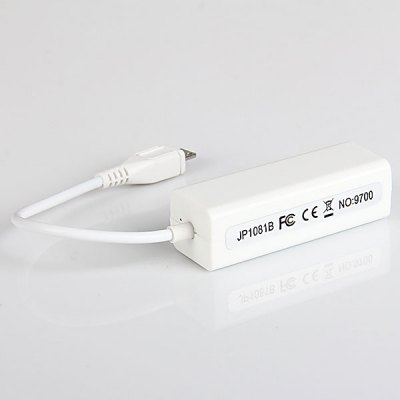 Nice Quality Micro USB 2.0 to Fast Ethernet Adapter, Compatible with Windows and MAC OS System