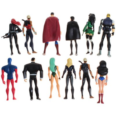 Гаджет   12PCS Well - sculpted Cool Justice League Accessary Animation Character of PVC Material Dolls & Action Figures