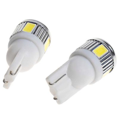 T10 White Light 6 x 5730 SMD LED Car Light - 2 Pcs