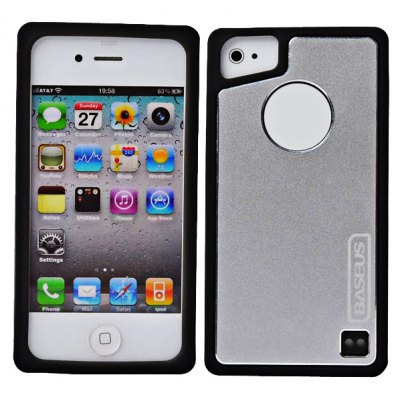 Baseus Silicone and Soft-metal Case for iPhone 4 / 4S
