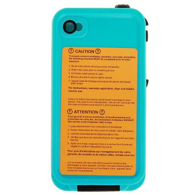 Гаджет   Waterproof Plastic Case Cover for for iPhone 4 / 4S with Cool Design iPhone Cases/Covers
