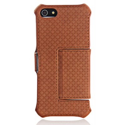 USAMS Flip Design Artificial Leather and Plastic Wallet Case for iPhone 5