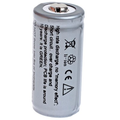 Гаджет   TangsFire 16340 3.7V 880mAh Li-ion Rechargeable Battery - 1-Pack, Gray, with Protection Board Batteries