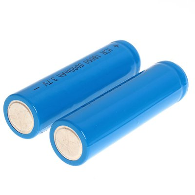 Гаджет   ICR 18650 3.7V 5000mAh Li-ion Rechargeable Battery - 2-Pack, Blue, without Protection Board Batteries