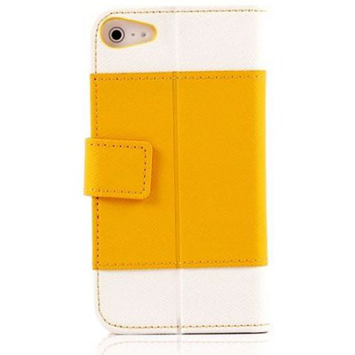 K.win Fashion Flip Wallet Style PC + PU Leather Stand Case with Card Holder for iPhone 4 / 4S