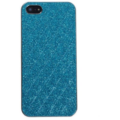Eletroplated Plastic and Rhombus Line Pattern Sheepskin High Quality Shell for iPhone 5