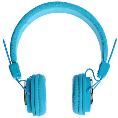 Kanen Fashion Design IP-850 Studio Headphone for iPhone/iPod/iPad, Support Incoming Call Function (Blue)