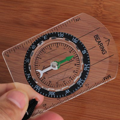 DC35-113 High Quality Plastic Map Compass Survival Tool with Lanyard