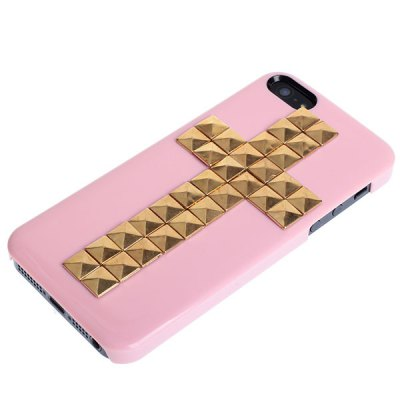 ФОТО Unique Cross Rivets Nails Style Plastic Protective Hard Shell Case for iPhone 5