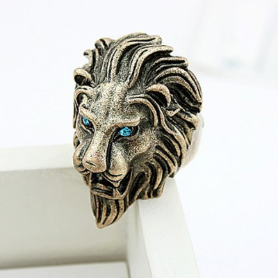 Hot Sale Rhinestoned Solid Color Womens Lion Shaped RingRings<br>Hot Sale Rhinestoned Solid Color Womens Lion Shaped Ring<br><br>Gender: For Women<br>Material: Rhinestone<br>Metal Type: Lead-tin Alloy<br>Style: Punk<br>Shape/Pattern: Animal<br>Weight: 0.090KG<br>Package Contents: 1 x Ring