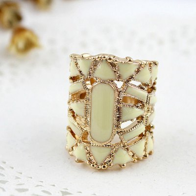 Exquisite Gemstone Embellished Womens Vivid Alloy Finger RingRings<br>Exquisite Gemstone Embellished Womens Vivid Alloy Finger Ring<br><br>Gender: For Women<br>Metal Type: Lead-tin Alloy<br>Style: Trendy<br>Shape/Pattern: Geometric<br>Diameter: 1.7CM<br>Weight: 0.080KG<br>Package Contents: 1 x Ring