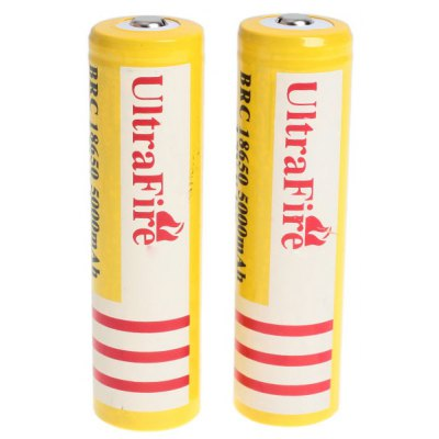 UltraFire 18650 3.7V 5000mAh Li-ion Rechargeable Battery - 2-Pack