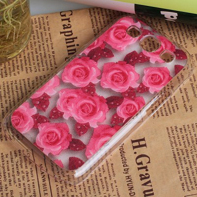 Beautiful Rose Pattern Dull Polish Plastic Hard Case Cover for Samsung Galaxy S3 i9300