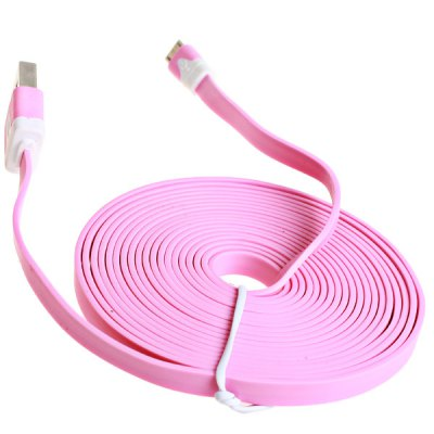 3m Noodle Style Micro USB Cable with Noodle Appearance DesigniPhone Cables &amp; Adapters<br>3m Noodle Style Micro USB Cable with Noodle Appearance Design<br><br>Compatibility: Sony, Blackberry, Nokia, HTC, Samsung<br>Interface type: Micro USB<br>Cable length (cm)  : 300 cm<br>Product weight: 50 g<br>Package weight: 0.080 kg<br>Package Contents: 1 x Cable