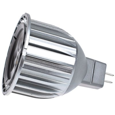 MR16 6W DC12V 3 - LED White SpotlightLED Light Bulbs<br>MR16 6W DC12V 3 - LED White Spotlight<br><br>Base Type: MR16<br>Type: Spot Bulbs<br>Output Power: 6W<br>Total Emitters: 3<br>Voltage (V): DC 12<br>Features: Energy Saving, Low Power Consumption, Long Life Expectancy<br>Function: Studio and Exhibition Lighting, Home Lighting, Commercial Lighting<br>Available Light Color: Warm White, Natural White<br>Sheathing Material: Aluminum Alloy<br>Package Weight: 0.09 kg<br>Package Size (L x W x H): 7 x 6 x 6 cm<br>Package Contents: 1 x Spotlight