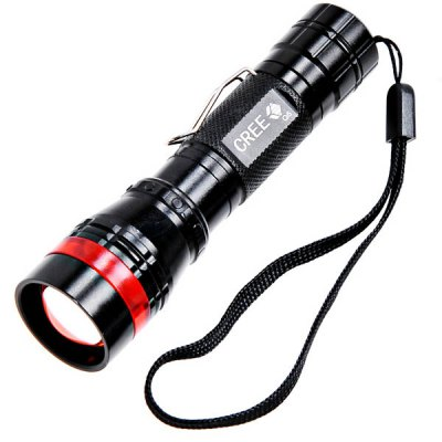 Гаджет   COFLY KX - FH10 Aluminum Alloy Cree XP - E R2 LED 1.1A 3 - Mode White Light Waterproof Dimming Flashlight Torch  -  210 Lumens LED Flashlights